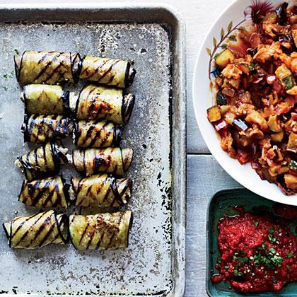 Eggplant Involtini with Grilled Ratatouille