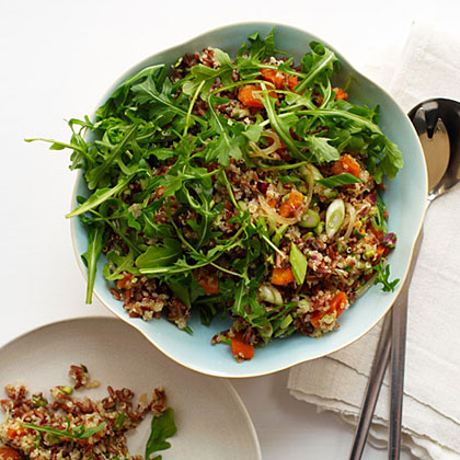 Red Rice and Quinoa Salad with Orange and Pistachios