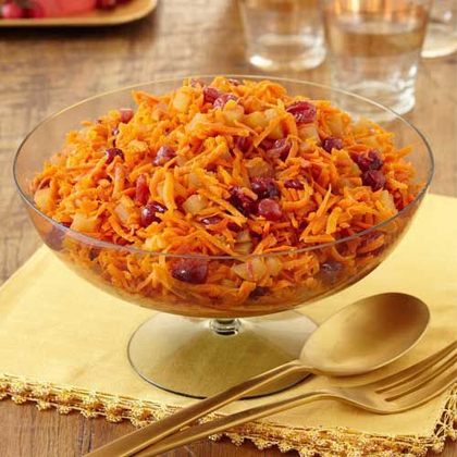 Cranberry-Jeweled Carrots