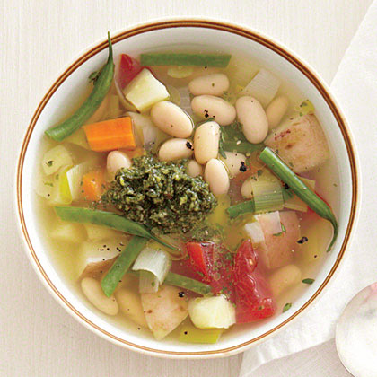 Fall Vegetable Stew with Mint Pesto