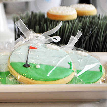 Golf Party Cookies