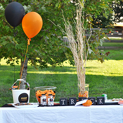 Halloween Party Outdoor Table