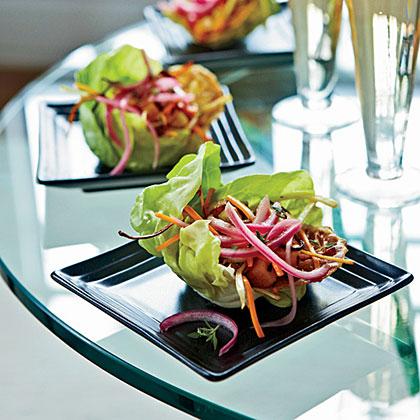 Bibb Lettuce with Warm Vegetable Vinaigrette