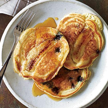 Blueberry-Banana Pancakes