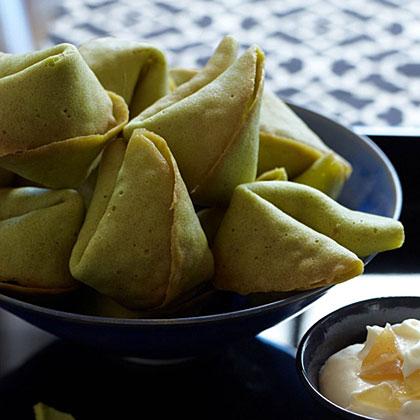 Green-Tea Fortune Cookies