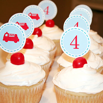 Fire Truck Cupcakes