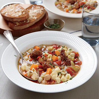 Chickpea and Sausage Minestrone