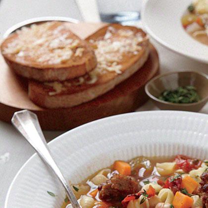 Ciabatta Parmesan Toasts