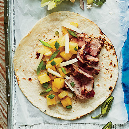 Caribbean Pork Tacos