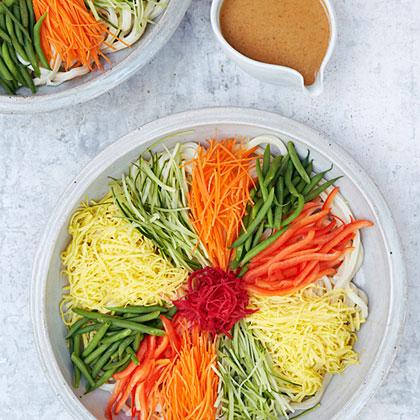 Chilled Udon Salad (Hiyashi Chuka Udon)