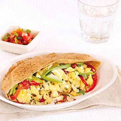 Egg and Pepper Pitas