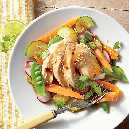 Sesame Chicken Garden Salad