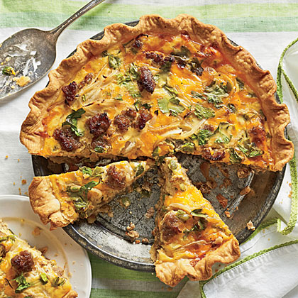 Cheese-and-Sausage Quiche