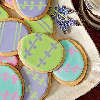 Easter-Egg Shortbread Cookies