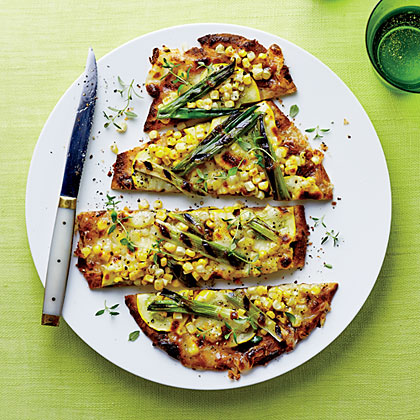 Corn, Squash, and Green Onion Flatbreads