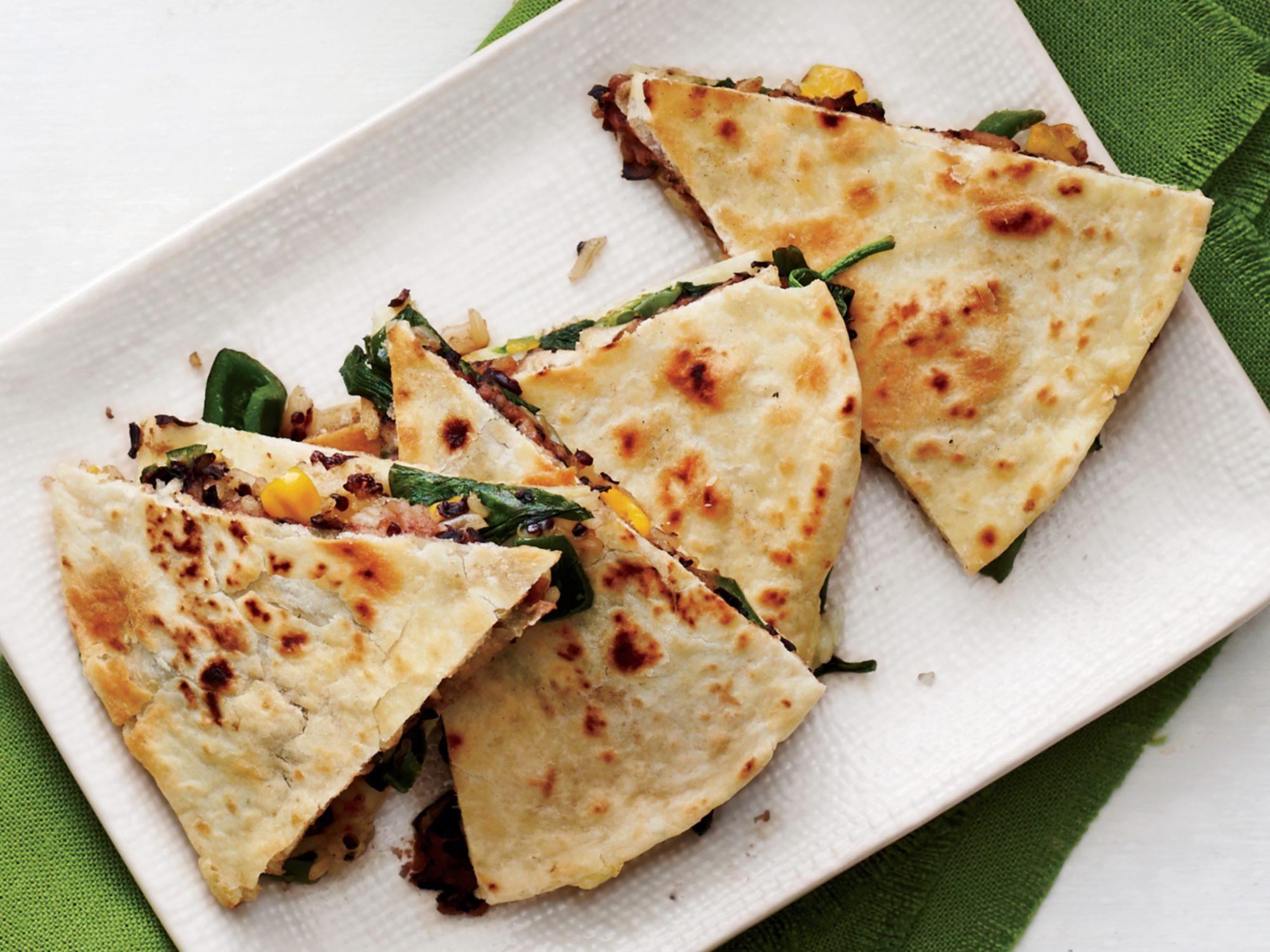 Crispy Vegetable Quesadillas