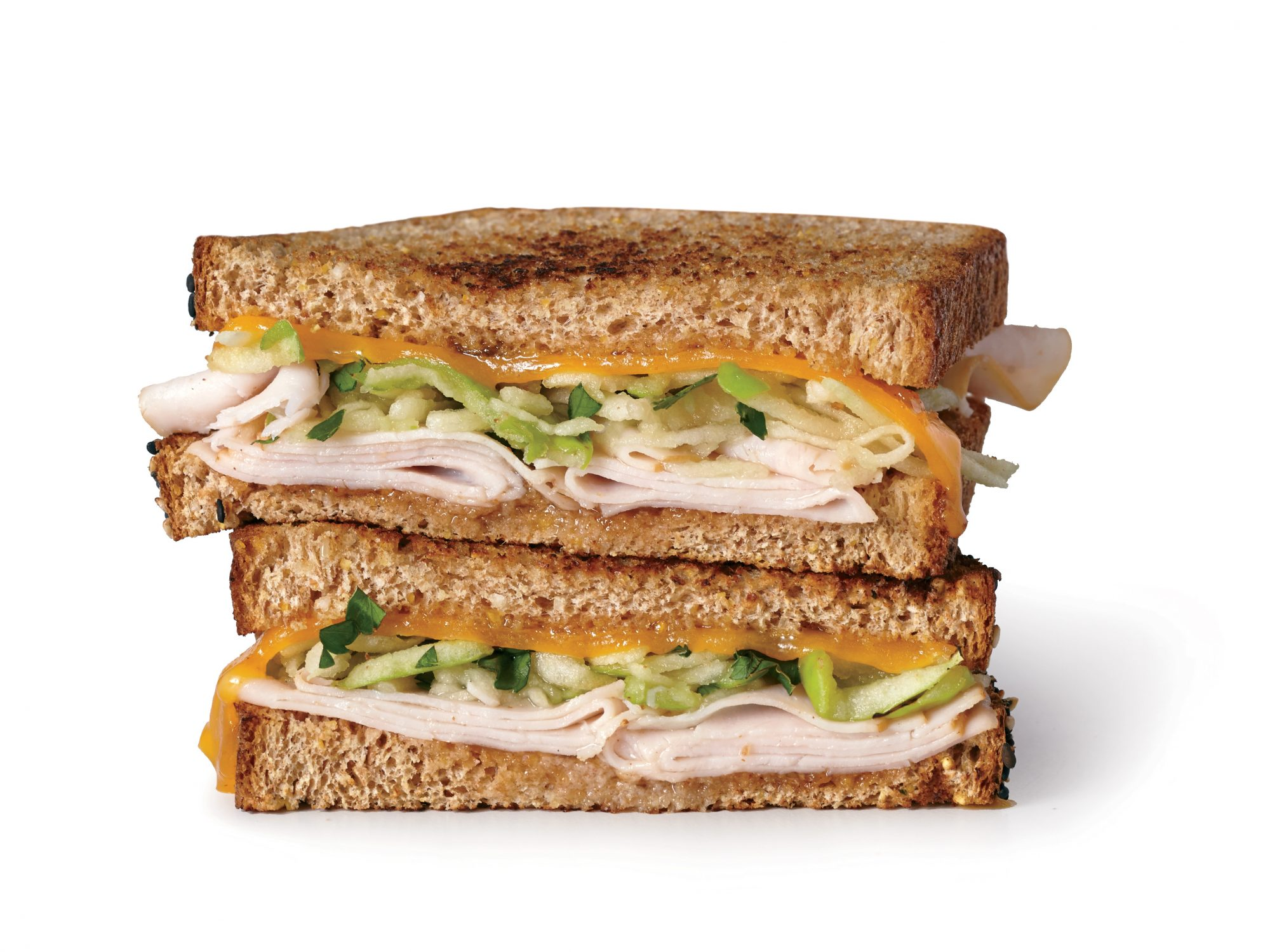 Grilled Turkey, Apple, and Cheddar Sandwiches