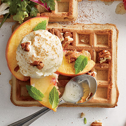 Peaches and Cream Waffle