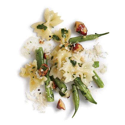 Pesto and Almond Farfalle