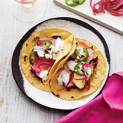 Roasted Pork Tenderloin Tacos