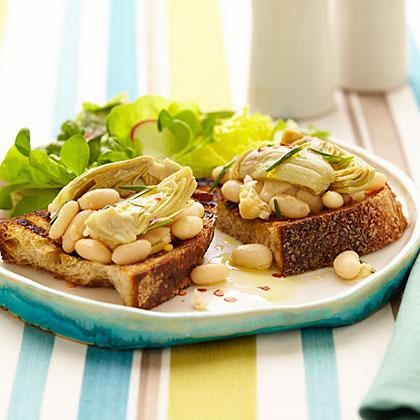 Artichoke and White Bean Bruschetta