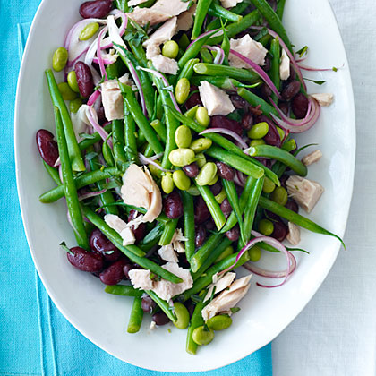 Four-Bean Salad with Tuna