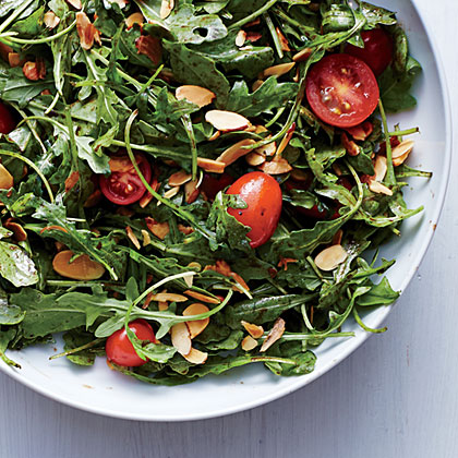 Arugula, Tomato, and Almond Salad