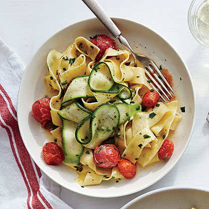 Silky Pappardelle with Zucchini Ribbons