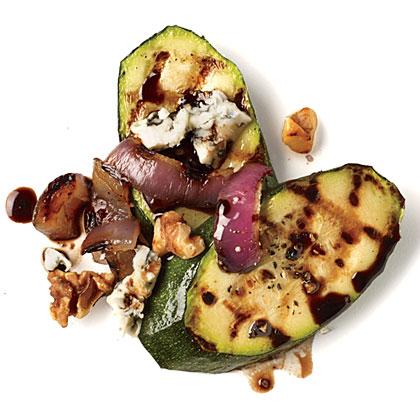 Walnut and Gorgonzola Zucchini