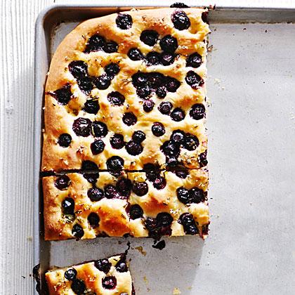 Blueberry Rosemary Focaccia