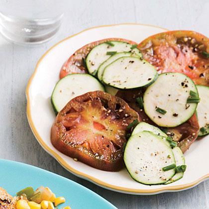 Heirloom Tomato and Zucchini Salad