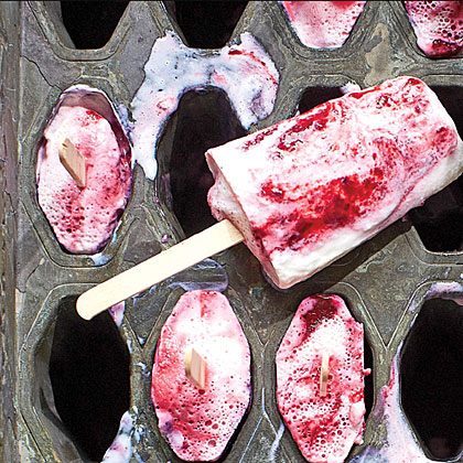 Buttermilk-Blackberry Dreamsicles