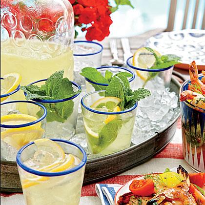 Lemon-Mint Sparklers