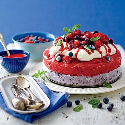 Red, White, and Blue Ice-Cream Cake