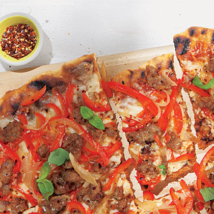 Sausage, Pepper and Onion Pizza