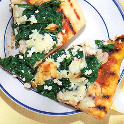 Spinach-Feta Pizza