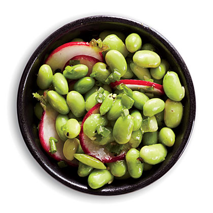 Radish and Chive Edamame Salad