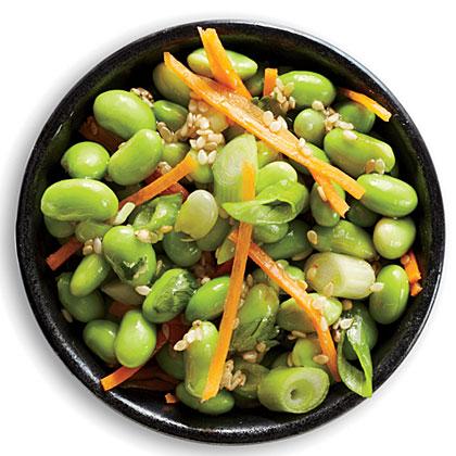 Sesame-Carrot Edamame Salad