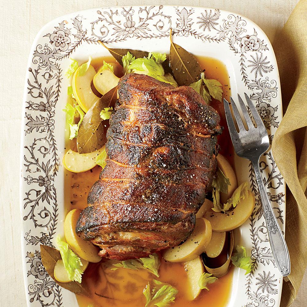 Cider-Braised Pork Shoulder