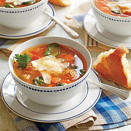 Italian-Style Turkey Meatball Soup
