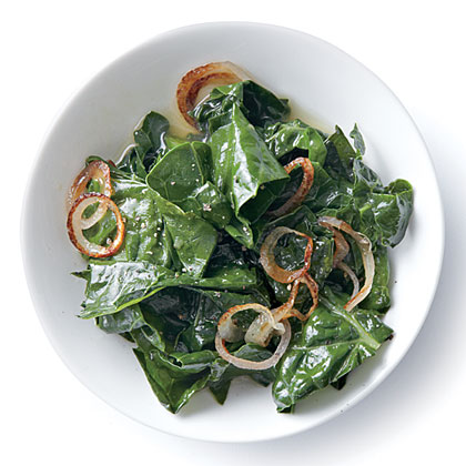 Wilted Kale with Golden Shallots