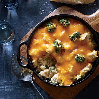 Broccoli-Quinoa Casserole with Chicken and Cheddar