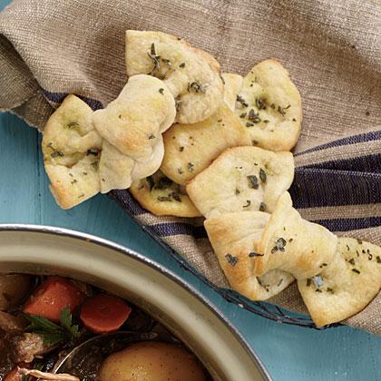 Quick Walnut-Sage Bread Knots