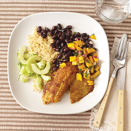 Tilapia with Quinoa and Mango Salsa