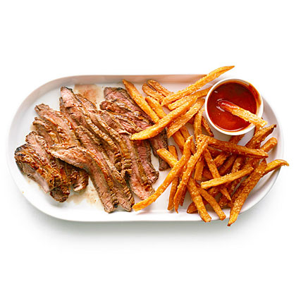 Chile-Glazed Steak with Spicy Ketchup