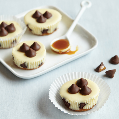 Mini Cheesecakes with Caramel Filled DelightFulls™ & Sea Salt
