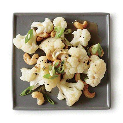 Cauliflower with Sesame Toasted Cashews