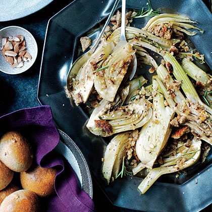 Roasted Fennel with Rosemary Breadcrumbs