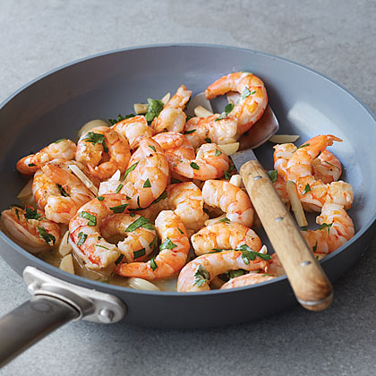 Twice-Cooked Garlic Shrimp