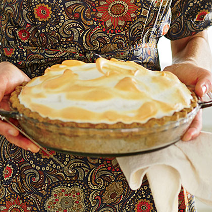Butterscotch Meringue Pie with Pecan Crust